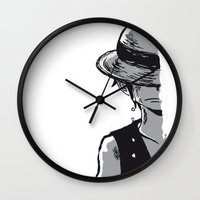 luffy Wall Clocks featuring Sad Luffy by cici22
