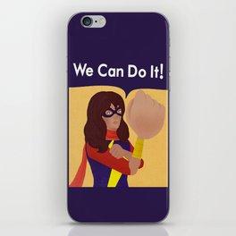 Kamala Khan Can Do It! iPhone Skin