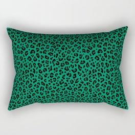 LEOPARD PRINT in GREEN | Collection : Leopard spots – Punk Rock Animal Print Rectangular Pillow