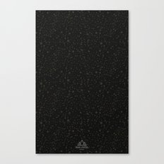 Trail Status / Technical Black Canvas Print