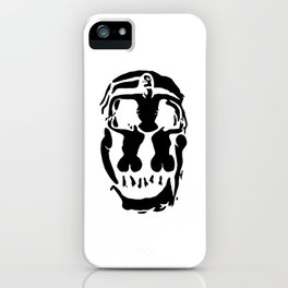 Surrealistic skull inspired by Salvador Dali photo iPhone Case