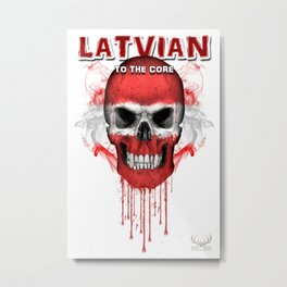 To The Core Collection: Latvia Metal Print