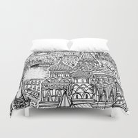 russia Duvet Covers featuring To Russia, With Love by Candice Soon