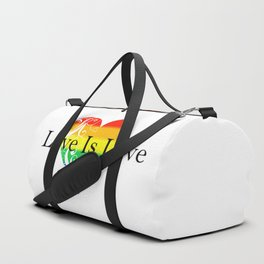 Love Is Love Rainbow Pride Heart 4 Duffle Bag
