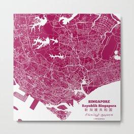 Singapore Street Map Metal Print
