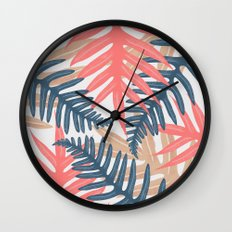 Summer Leaves Wall Clock