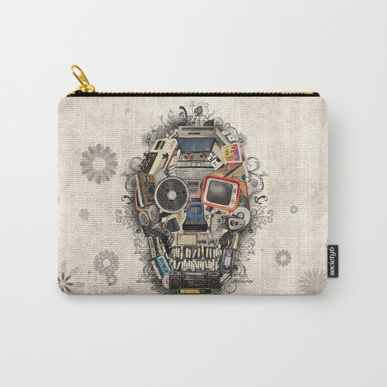 retro tech skull 2 Carry-All Pouch