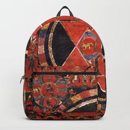 Tantric Buddhist Vajravarahi Five Deity Mandala Backpack