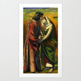 """Dante Gabriel Rossetti """"Ruth and Boaz"""" Art Print"""