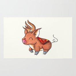 Reindeer Piggy Rug