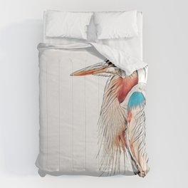 Heron with Turtles Comforters