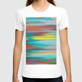 Abstract intense blue T-shirt