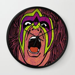 ultimate warrior Wall Clock