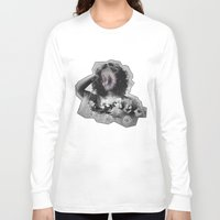 geode Long Sleeve T-shirts featuring Geode Face by hunnydoll