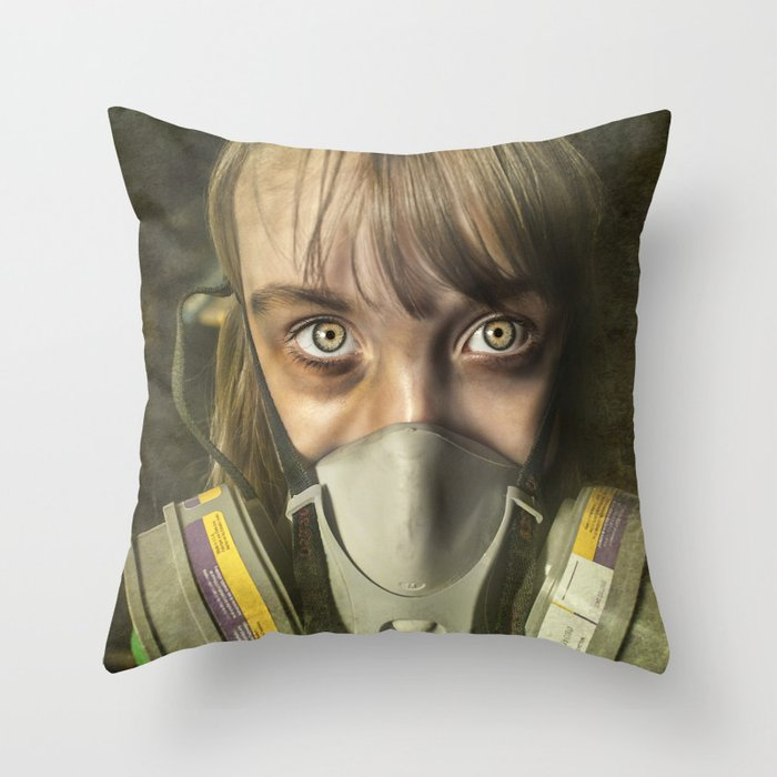 The day after ~ Survivor (treated version) Throw Pillow