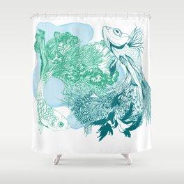 Fishy Dancers Shower Curtain