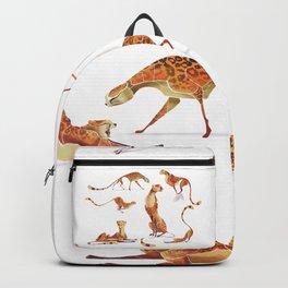 Cheetah poses Backpack