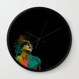 Mix Graphic Classical Statue Wall Clock