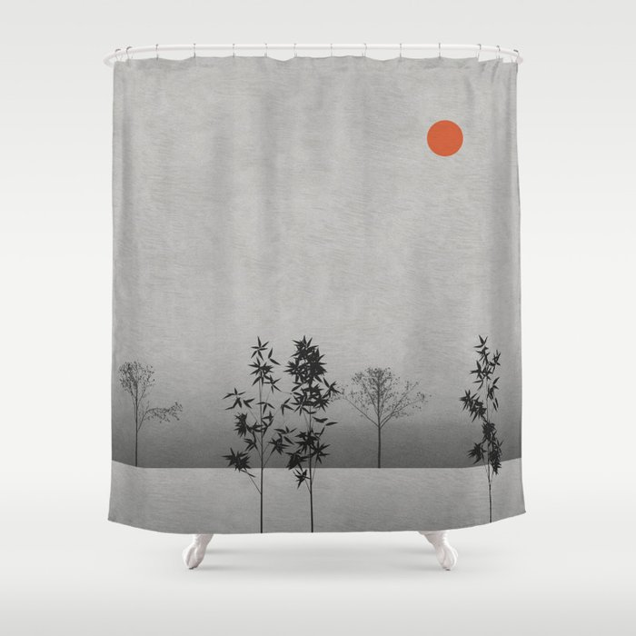 Landscape with Trees Shower Curtain