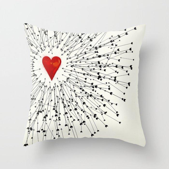 Heart&Arrows Throw Pillow