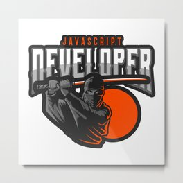 Motivated JavaScript Developer Metal Print