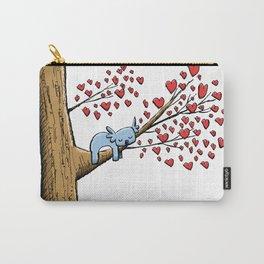 Cute Koala in Tree of Hearts Carry-All Pouch
