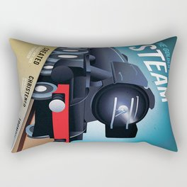 THE GOLDEN AGE OF STEAM VINTAGE POSTER Rectangular Pillow