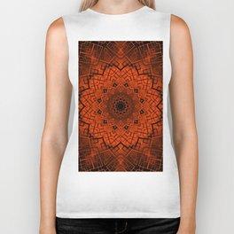 Black and orange kaleidoscope Biker Tank