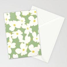 Dogwood Floral: Sage/Green Stationery Cards