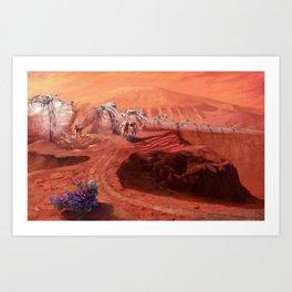 Martian Explorers Art Print