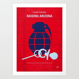 No477 My Raising Arizona minimal movie poster Art Print