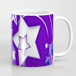 Blue and Purple Happy New Year Shooting Stars Coffee Mug