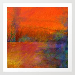 Orange Study #1 Digital Painting Art Print