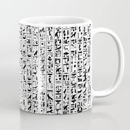 Hieroglyphics B&W / Ancient Egyptian hieroglyphics pattern Coffee Mug