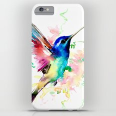 Hummingbird , Blue Turquoise Pink iPhone 6s Plus Slim Case