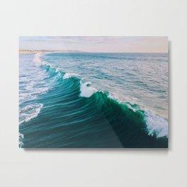 Beautiful California Ocean Waves Metal Print