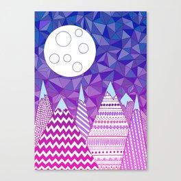 Moon in mountain Canvas Print