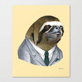 Sloth print Canvas Print