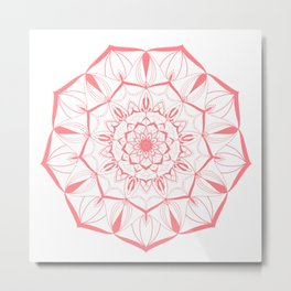 Living Coral Mandala no. 49 #society6 Metal Print