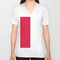 poland V-neck T-shirts featuring Flag of Poland by Neville Hawkins