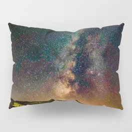 Copper Mountain Galaxy // Incredible Photograph of the Milky Way Stars and Cosmic Dust Pillow Sham