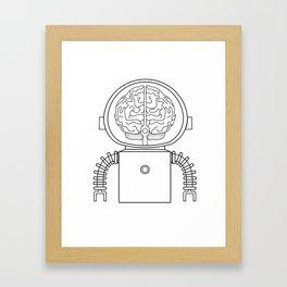 RobotSpaceBrain Framed Art Print