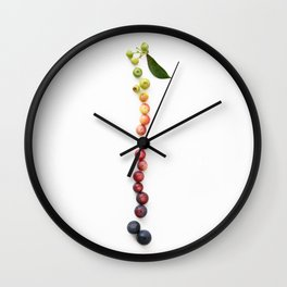 Blueberry Gradient Wall Clock