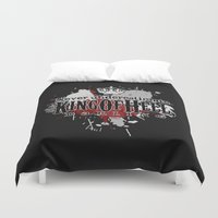 crowley Duvet Covers featuring King of Hell by tripinmidair