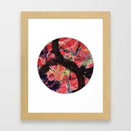 Hello Anger Abstract Framed Art Print