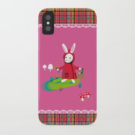 Little Red Riding Rabbit iPhone Case