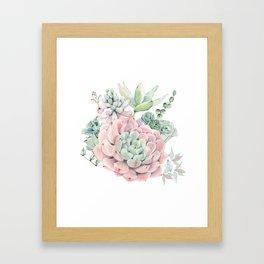 Pink Succulents by Nature Magick Gerahmter Kunstdruck