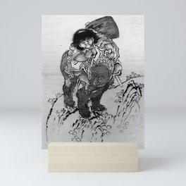 Katsushika Hokusai - Sakata Kintoki Riding on Bear's Back Mini Art Print