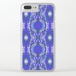 Star Peace Glow Lace Sacred Geometric Print Clear iPhone Case