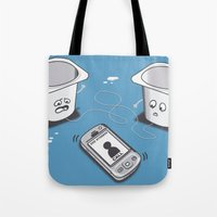 evolution Tote Bags featuring Evolution by 2mzdesign